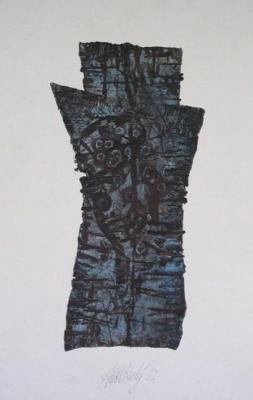 The blue figure
