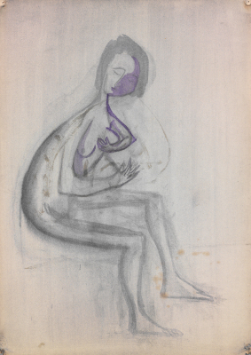 Untitled (Sitting Figure)
