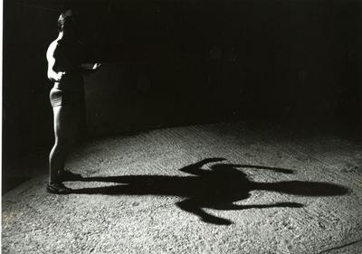 Burning your own shadow - duplication (photo documentation of a performance)