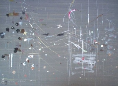 Tracks, Traces, Gray Landscape